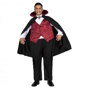 Fato de Vampiro Gordinho adulto para a noite de Halloween