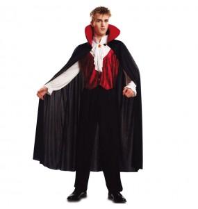 Fato de Vampiro Drácula adulto para a noite de Halloween