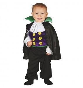 Disfarce Halloween Vampiro Draculin com que o teu bebé ficará divertido.