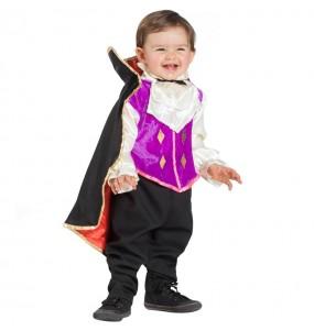 Disfarce Halloween Vampiro Elegante com que o teu bebé ficará divertido.