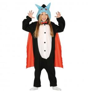 Disfarce Halloween Vampiro kigurumi para crianças para meninos para uma festa do terror