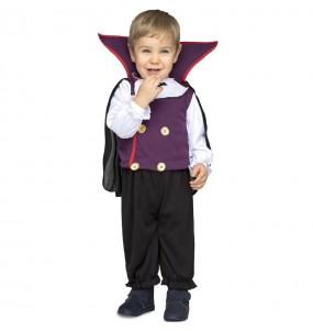 Fato de vampiro púrpura para bebé