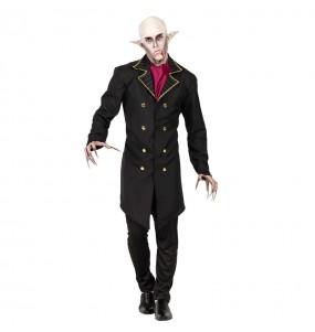 Fato de vampiro Nosferatu adulto para a noite de Halloween