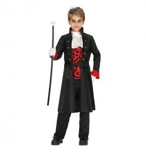 Disfarce Halloween Vampiro Escuro para meninos para uma festa do terror