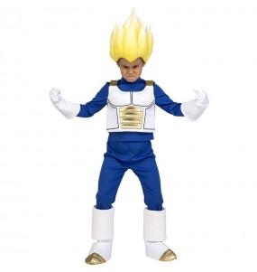 Disfarce Vegeta Super Saiyan Dragon Ball menino para deixar voar a sua imagina??o