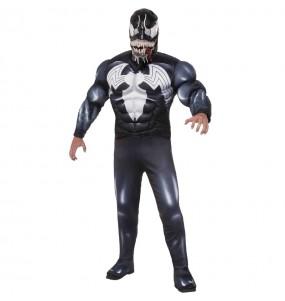 Disfarce Venom adulto divertidíssimo para qualquer ocasião