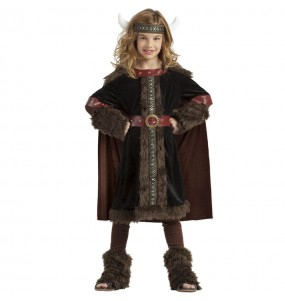 Disfarce Viking Preto menina para que eles sejam com quem sempre sonharam