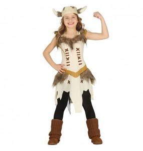 Disfarce Viking Escandinava menina para que eles sejam com quem sempre sonharam