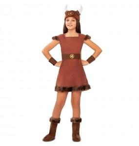 Disfarce Viking Guerreira menina para que eles sejam com quem sempre sonharam