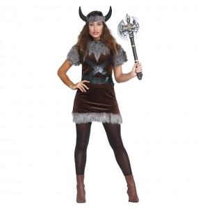 Disfarce original Viking bárbaro mulher ao melhor preço