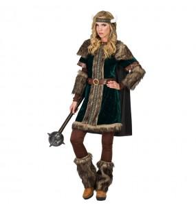 Disfarce original Viking Nórdica mulher ao melhor preço