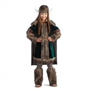 Disfarce Viking Nórdica menina para que eles sejam com quem sempre sonharam