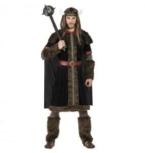 Disfarce Viking Preto adulto divertidíssimo para qualquer ocasião