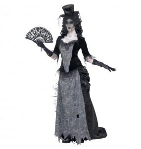 Fato de Viúva fantasma para mulher