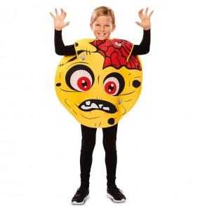 Disfarce Halloween Zombie Emoticon para meninos para uma festa do terror