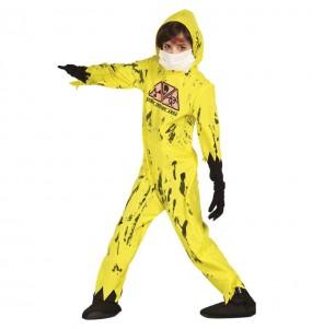 Disfarce Halloween Zombie Nuclear para meninos para uma festa do terror