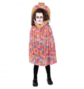 Fato de Zombie sem cabeça para menina