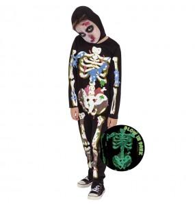 Fato de Zombie Skeleton para menino