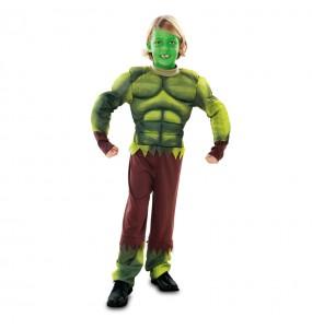 Disfarce Monstro Verde - Hulk menino para deixar voar a sua imagina??o