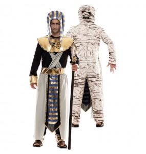 Disfarce duplo de Egípcio e Múmia adulto divertidíssimo para qualquer ocasião