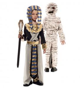 Disfarce duplo de Egípcio e Múmia menino para deixar voar a sua imaginação