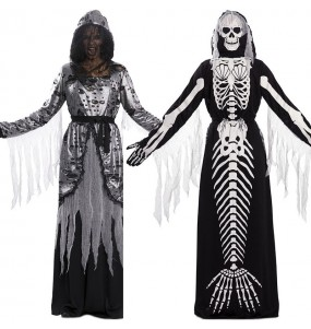 Disfarce original Fato duplo de Morte e Sereia esqueleto mulher ao melhor preço