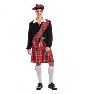 Disfarce Escocês Vermelho adulto divertidíssimo para qualquer ocasião