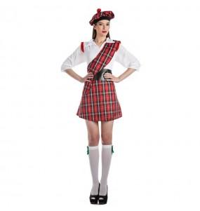 Disfarce original Escocesa Vermelha mulher ao melhor preço