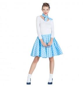 Disfarce original anos 50 azul mulher ao melhor preço