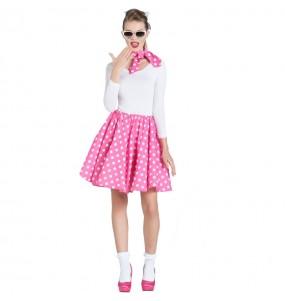 Disfarce original anos 50 rosa mulher ao melhor preço