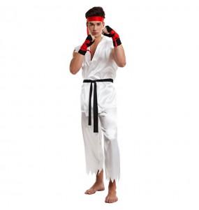 Disfarce Lutador de Karate Ryu adulto divertidíssimo para qualquer ocasião