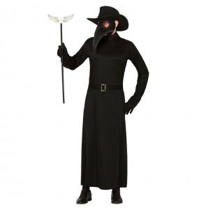 Fato de Doutor Peste adulto para a noite de Halloween