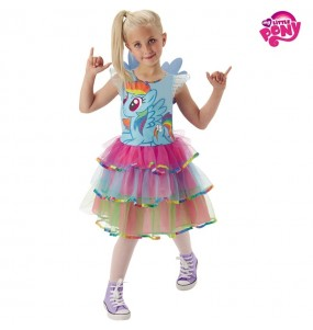 Disfarce My Little Pony Rainbow menina para que eles sejam com quem sempre sonharam
