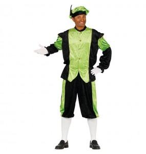 Disfarce Pajem Real verde adulto divertidíssimo para Natal