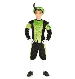 Disfarce Pajem Real verde menino para deixar voar a sua imaginação no Natal