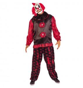 Fato de Palhaço maléfico adulto para a noite de Halloween