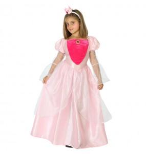 Disfarce luxo princesa rosa menina para que eles sejam com quem sempre sonharam