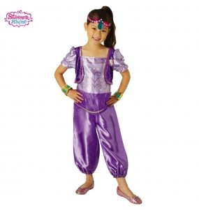 Disfarce Shimmer e Shine Purple menina para que eles sejam com quem sempre sonharam