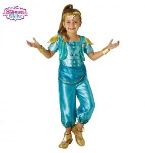 Disfarce Shimmer e Shine Turquoise menina para que eles sejam com quem sempre sonharam