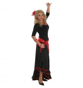 Disfarce original Flamenco preto mulher ao melhor preço