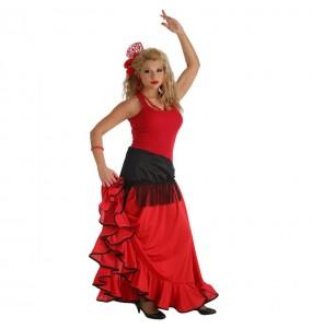 Disfarce original Flamenco Vermelha mulher ao melhor preço