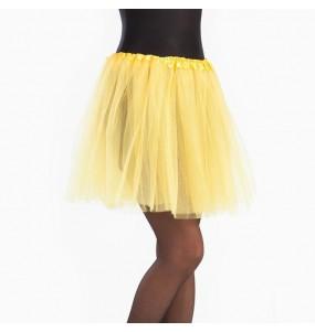 Disfarce original Saia Tutu Amarela mulher ao melhor preço