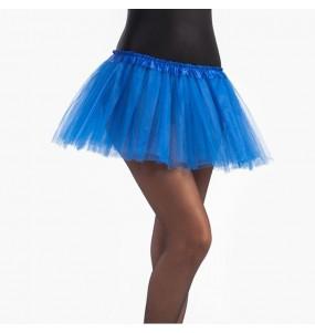 Disfarce Saia Tutu Azul menina para que eles sejam com quem sempre sonharam