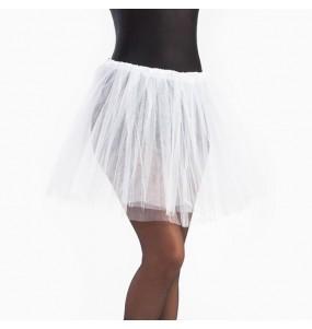 Disfarce original Saia Tutu Branca mulher ao melhor preço