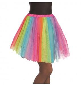 Disfarce original Saia Tutu Multicolor mulher ao melhor preço