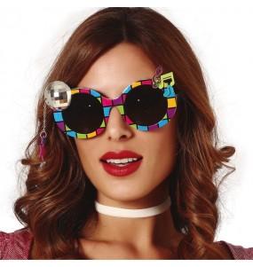 Os óculos mais engraçados bola de discoteca para festas de fantasia