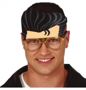 Os óculos mais engraçados Elvis Presley com peruca para festas de fantasia