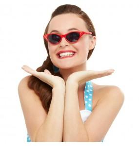 Os óculos mais engraçados Grease vermelhos para festas de fantasia