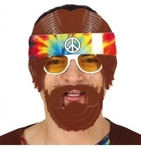 Os óculos mais engraçados hippie com barba para festas de fantasia