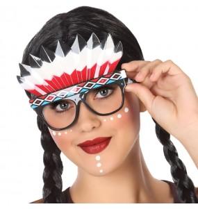 Os óculos mais engraçados índio americano para festas de fantasia
